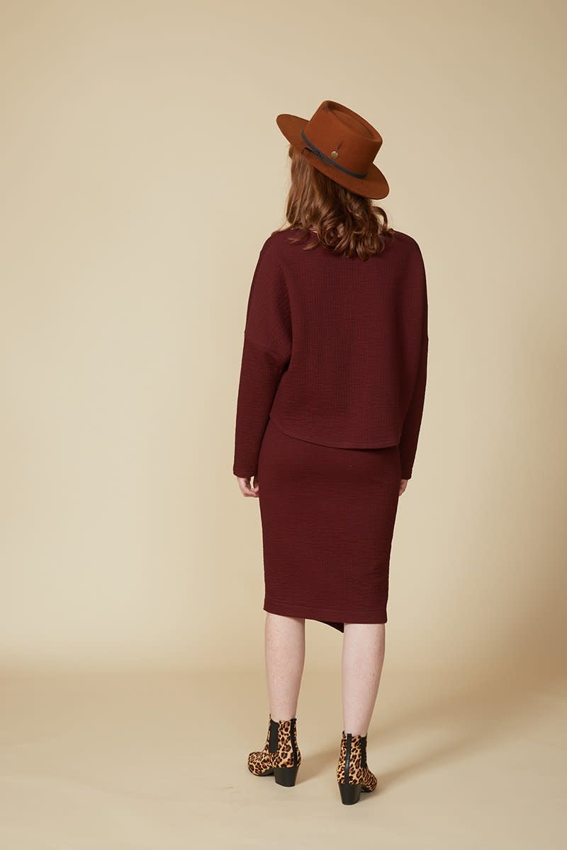 Cokluch Cokluch - BLACK MIRROR Skirt (Burgundy)