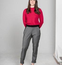 MAS Montreal Pantalon revers Madelaine (gris & noir)