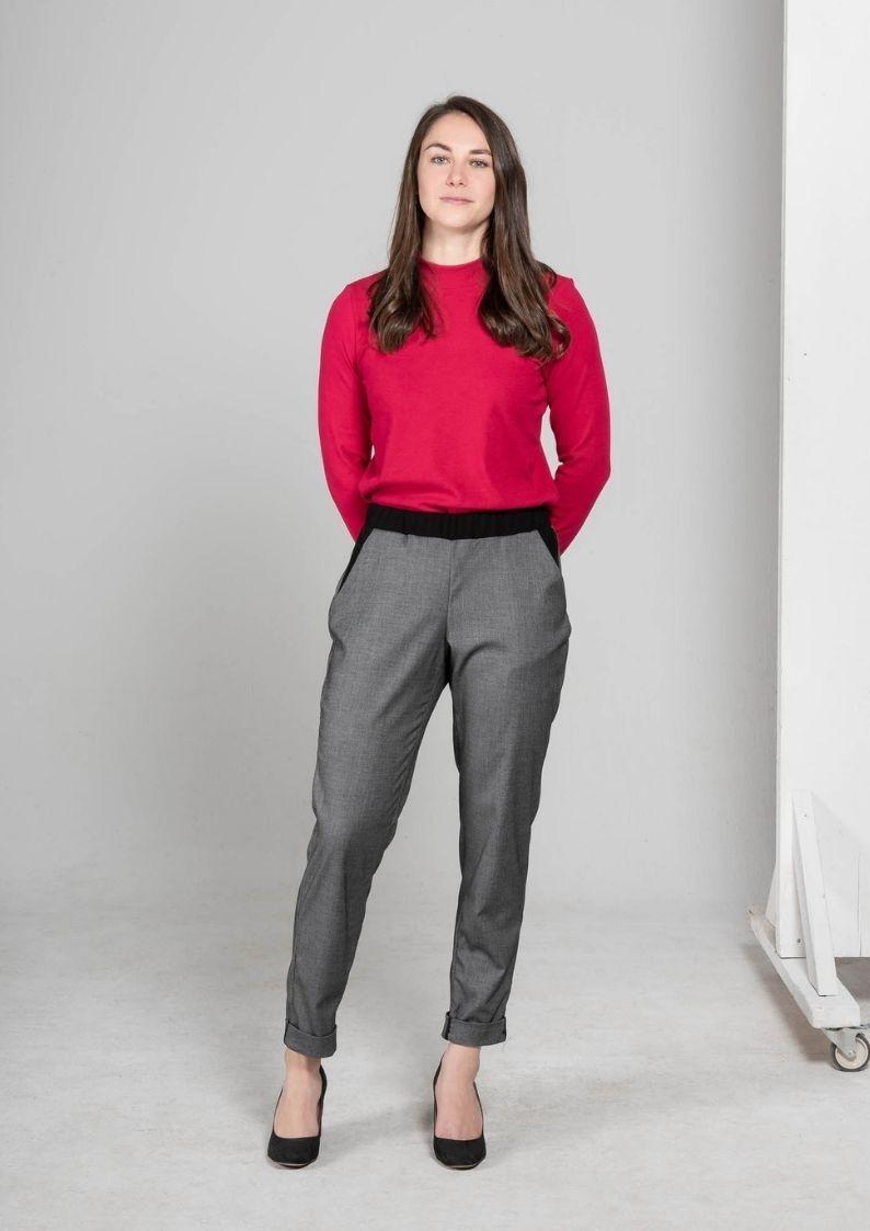 MAS Montreal MAS - Pantalon revers Madelaine (gris & noir)
