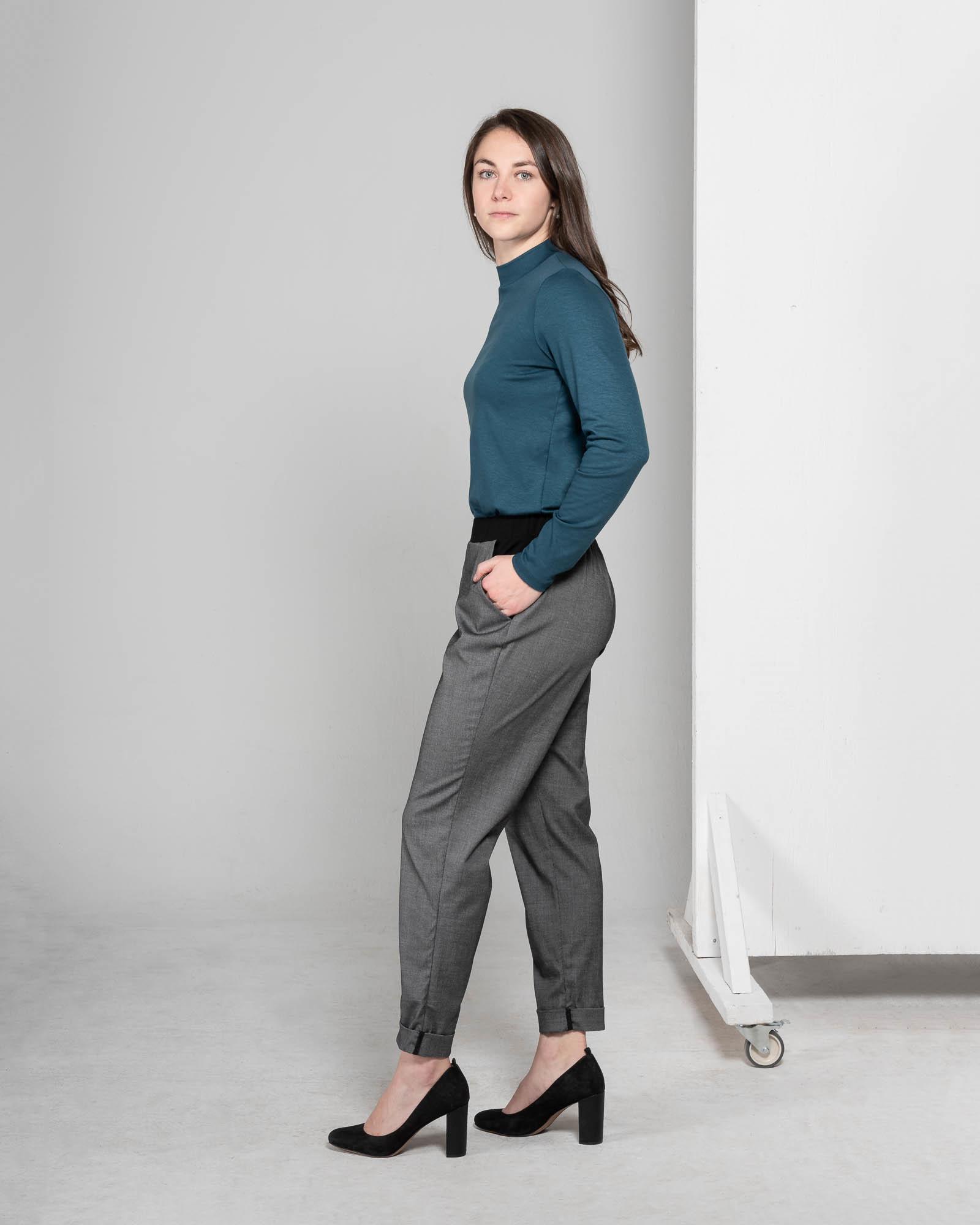 MAS Montreal MAS - Madelaine Cuffed Pants (Grey & Black)