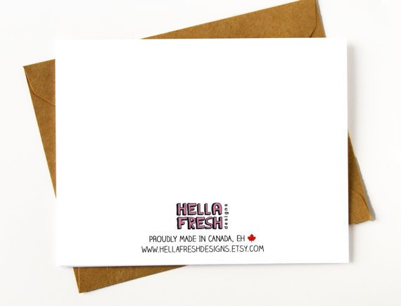 Hellafresh designs Hellafresh Designs Whore Maid of Honor Greeting Card