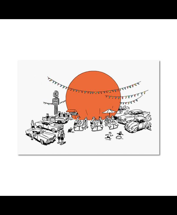 Paperole - Carte postale Orange Julep