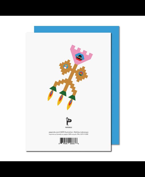 Paperole - FUSÉE Carte de souhaits