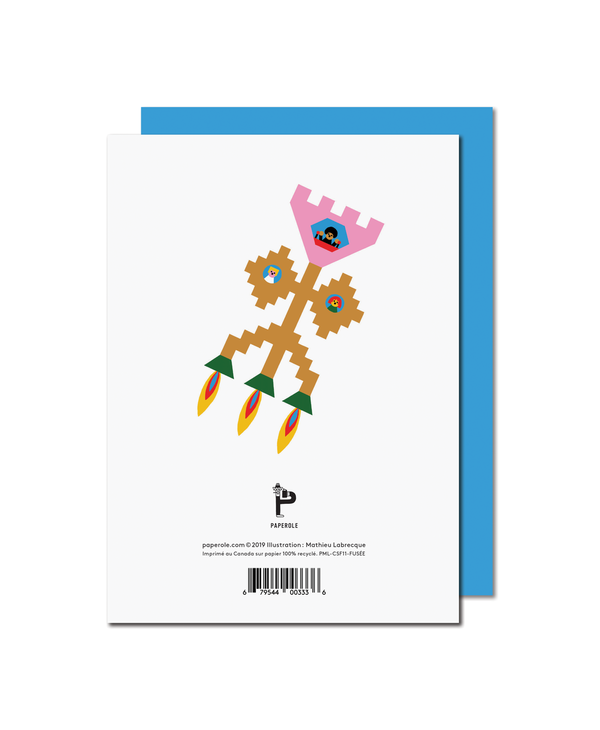 Paperole - FUSÉE Greeting Card