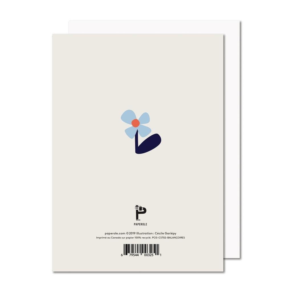 Paperole Paperole - BALANÇOIRES Carte de souhaits