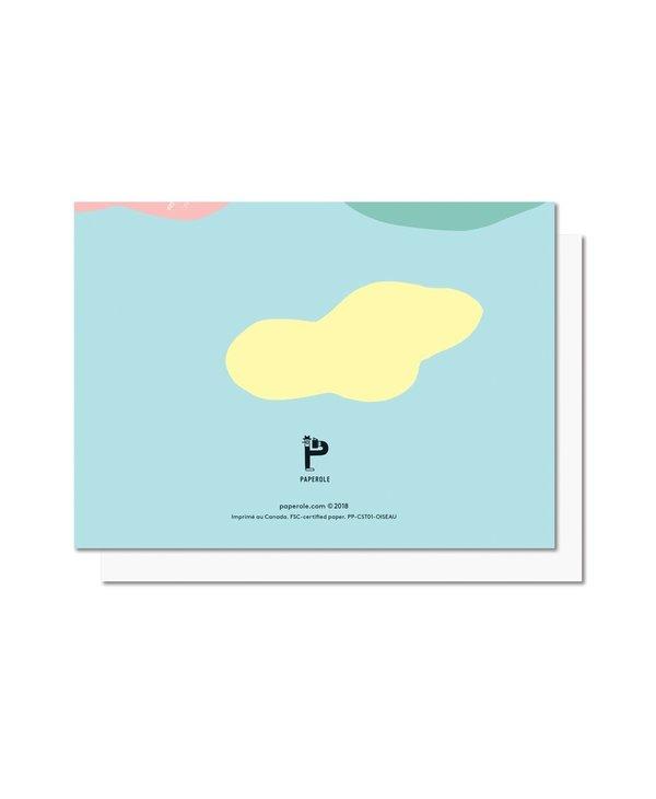 Paperole - OISEAU Carte de souhaits