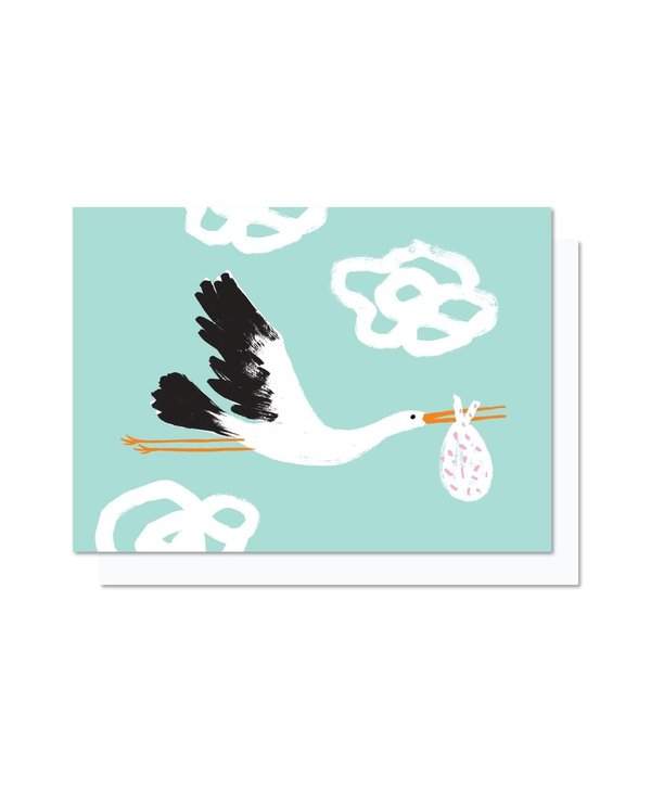 Paperole - CIGNOGNE Greeting Card