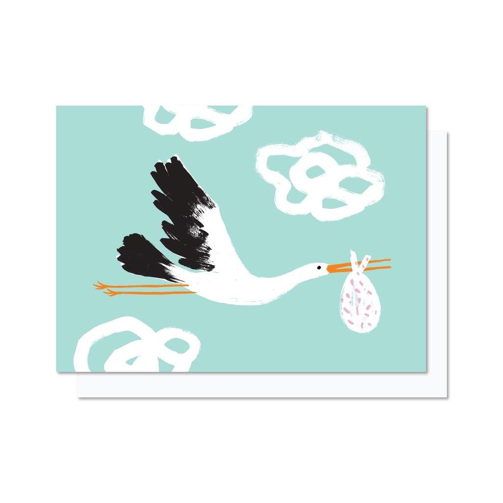 Paperole Paperole - CIGNOGNE Carte de souhaits