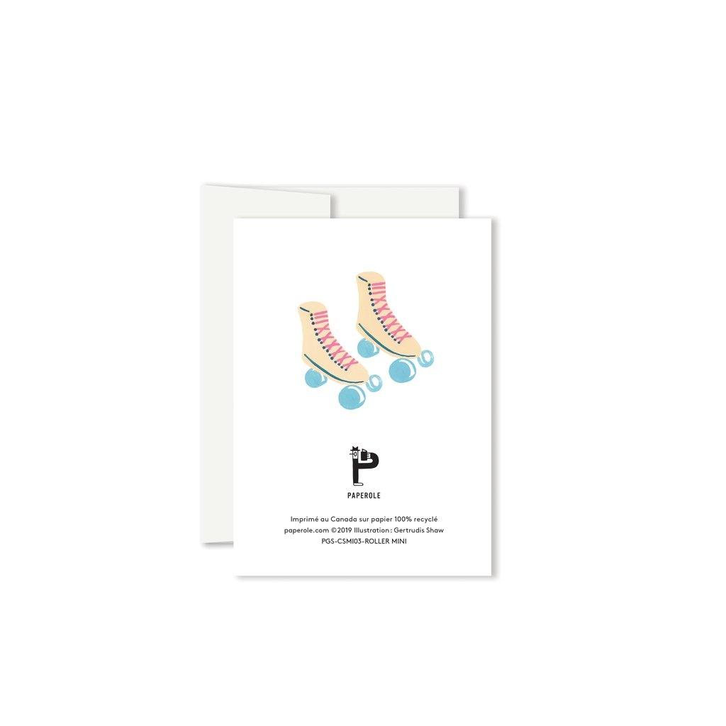 Paperole Paperole - ROLLER Mini Carte de souhaits