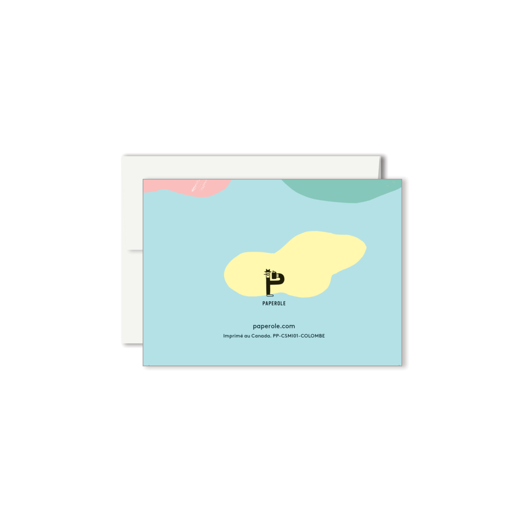 Paperole Paperole - COLOMBE Mini Greeting Card