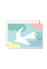 Paperole Paperole - COLOMBE Mini Carte de souhaits