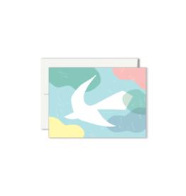 Paperole COLOMBE Mini Carte de souhaits