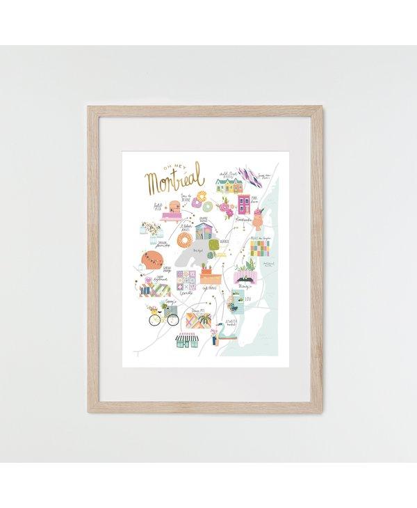 HeyMaca - MTL Hidden Gems Print (18x24)