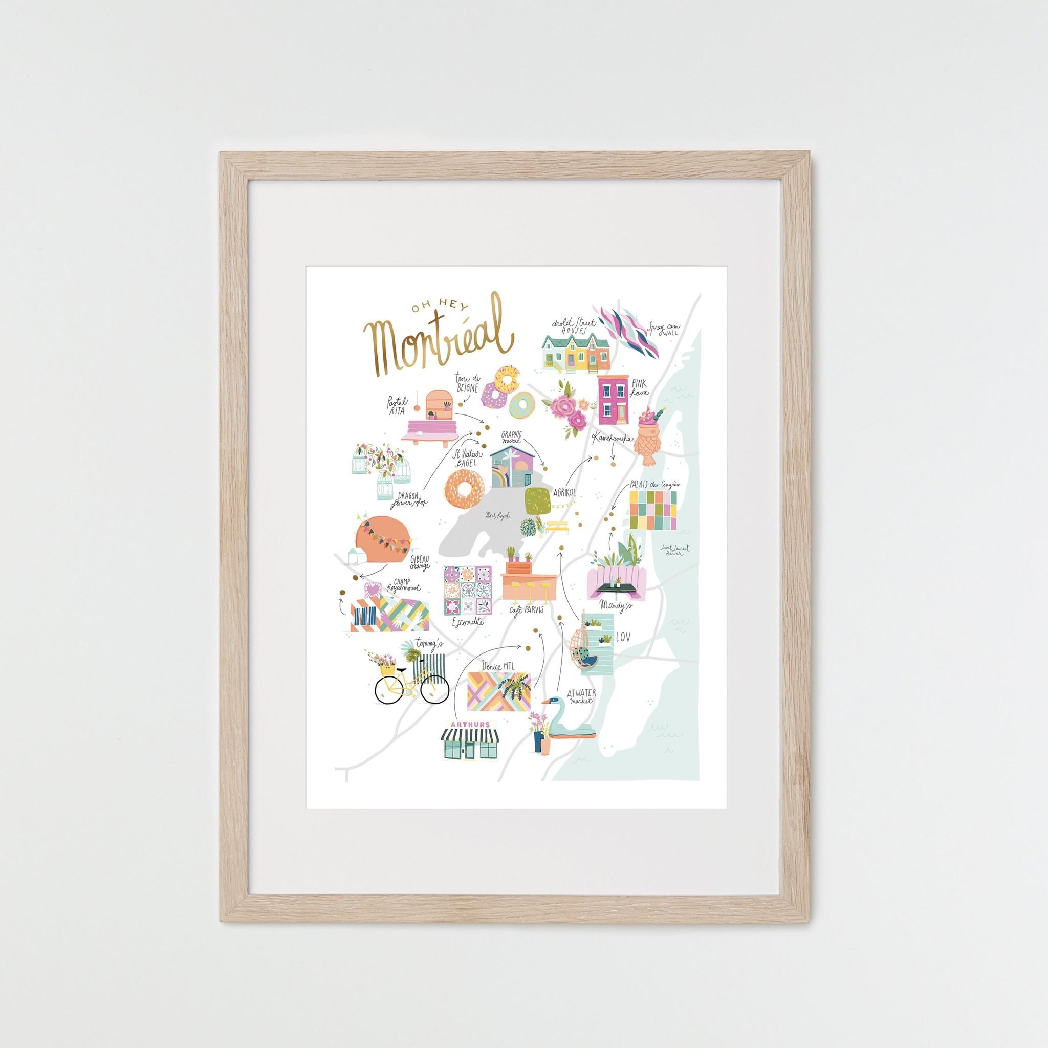 HeyMaca HeyMaca - MTL Hidden Gems Print (18x24)