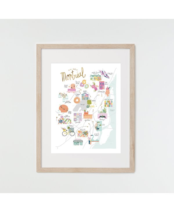 HeyMaca - MTL Hidden Gems Print (8x10)