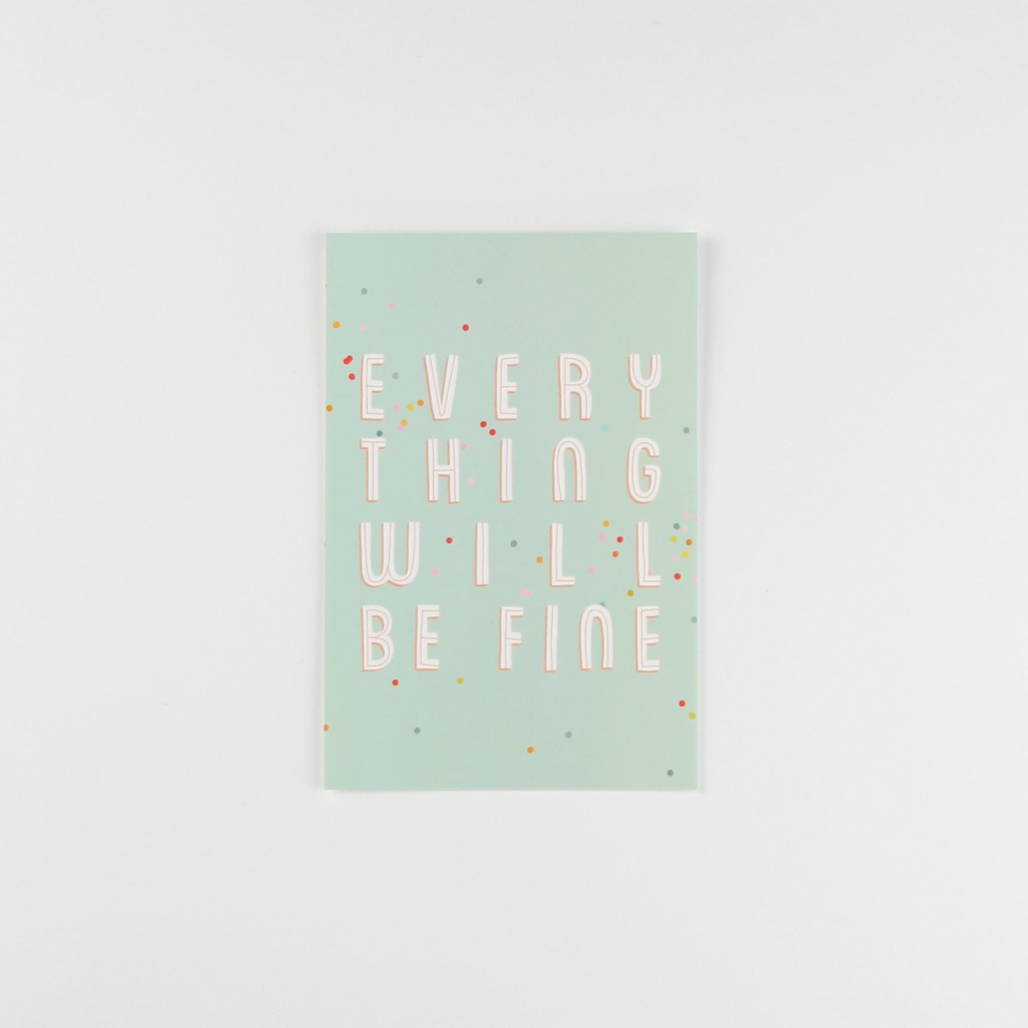 HeyMaca HeyMaca - Carte Postale Everything Will Be Fine