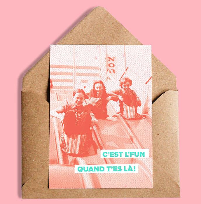 Gab Cosmique C'est l'fun quand t'es là Greeting Card