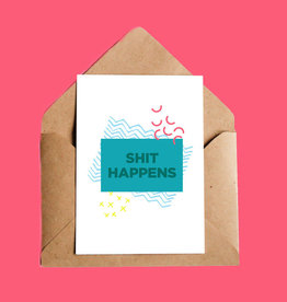 Oui Manon Shit Happens Greeting Card