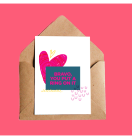 Oui Manon You Put a Ring on it Greeting Card
