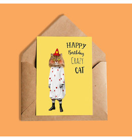 So Meow Happy Birthday Crazy Cat Carte de souhaits