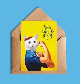 So Meow You Can do it Girl Carte de souhaits