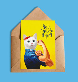 So Meow You Can do it Girl Greeting Card