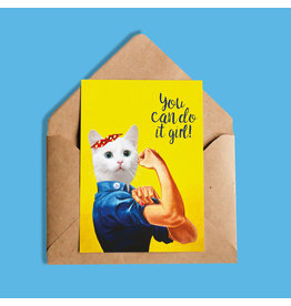 So Meow You Can do it Girl Carte de souhaits