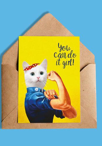 You Can do it Girl Carte de souhaits