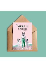 So Meow Ma mere c'est la meilleure Greeting Card