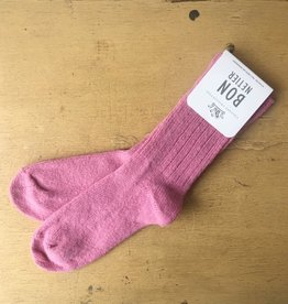 Bonnetier Pink Merino Wool Socks