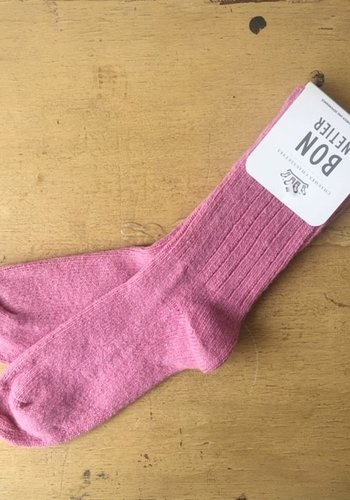 Pink Merino Wool Socks