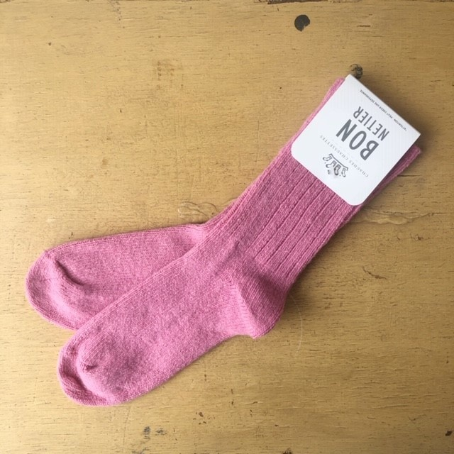 Bonnetier Pink Merino Wool Socks