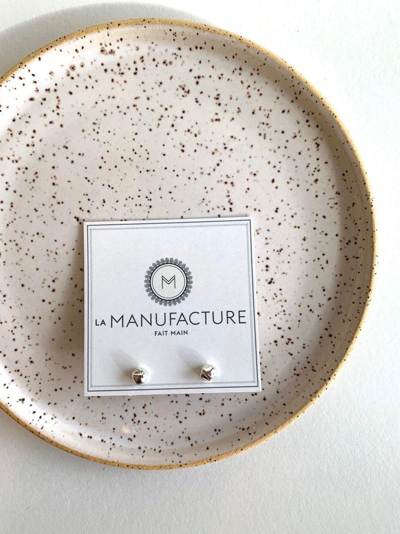 La Manufacture Viviane stud silver