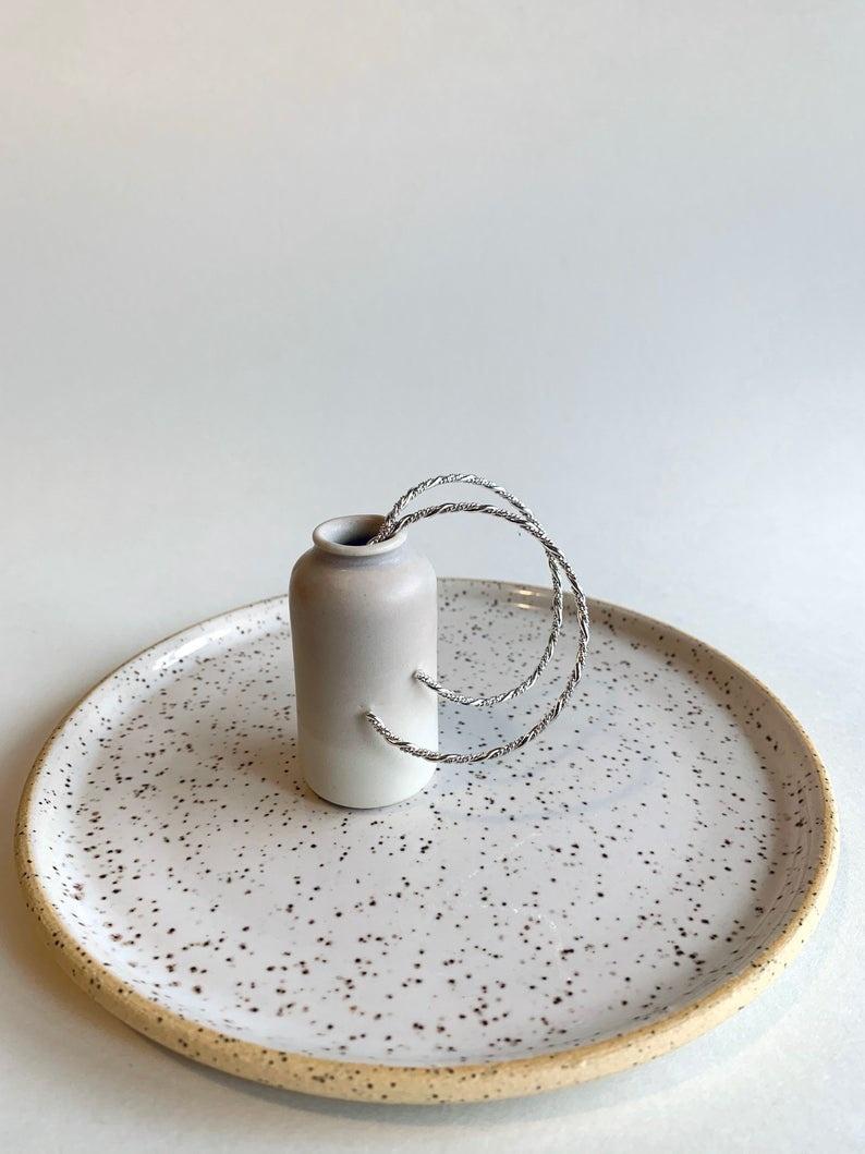La Manufacture Louise hoop silver twist