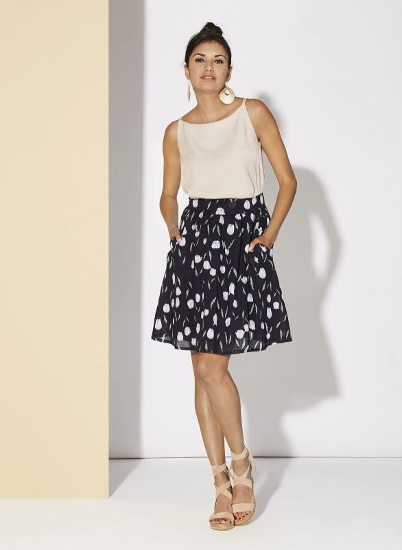 Cherry Bobin Hibiscus Skirt