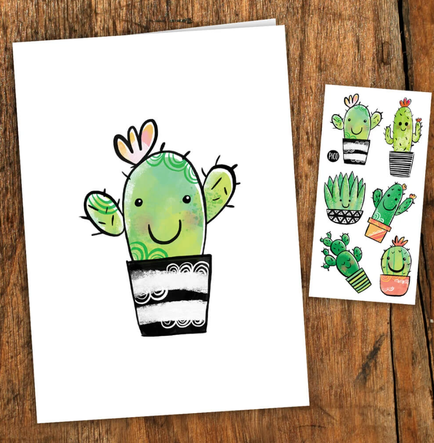 Pico tatoo Carte Cactus - Tatoo inclus