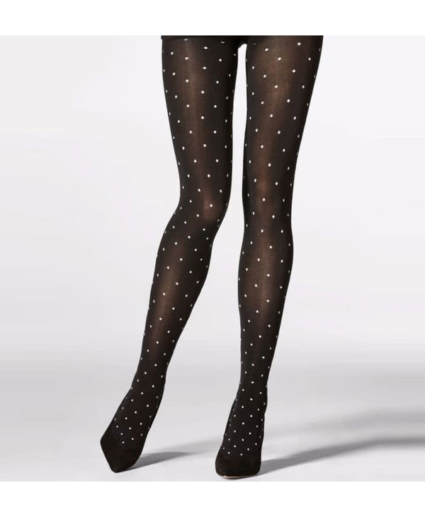 Black Tights with White Dots
