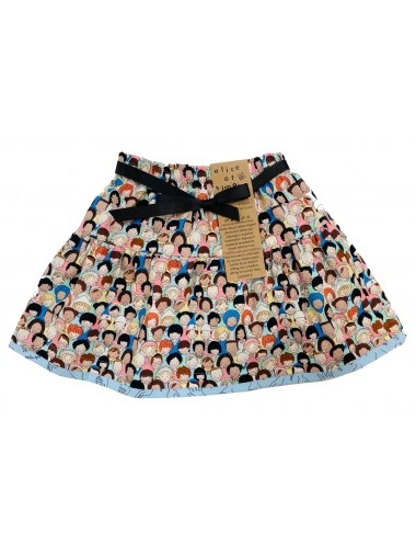Alice & Simone Reversible skirt Faces-Sign language