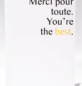 Masimto You're the Best Greeting Card