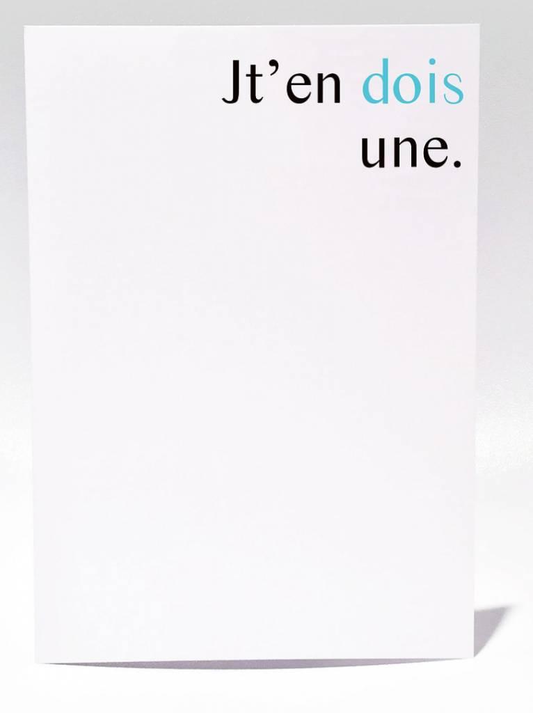 Masimto Jt'en Dois Une Greeting Card