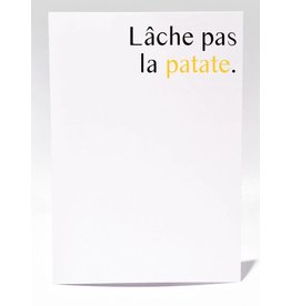 Masimto Lâche pas la Patate Greeting Card