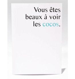 Masimto Beaux à Voir les Cocos Greeting Card