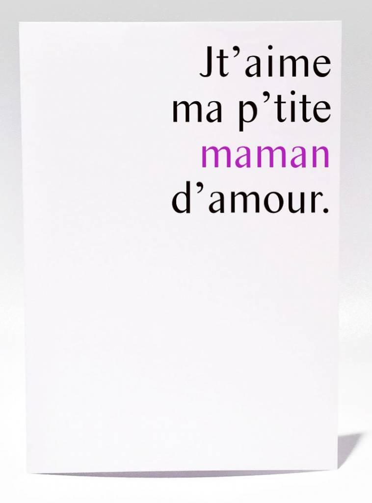 Masimto P'tite Maman d'amour Greeting Card