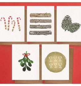 Darveelicious 5 Holiday Greeting Cards