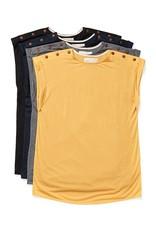 Atelier b T-shirt à boutons à l'épaule- Haut 2004w - 3 couleurs