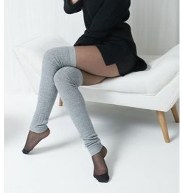 Mondor Jambières motifs câble en laine mérinos - 2 couleurs