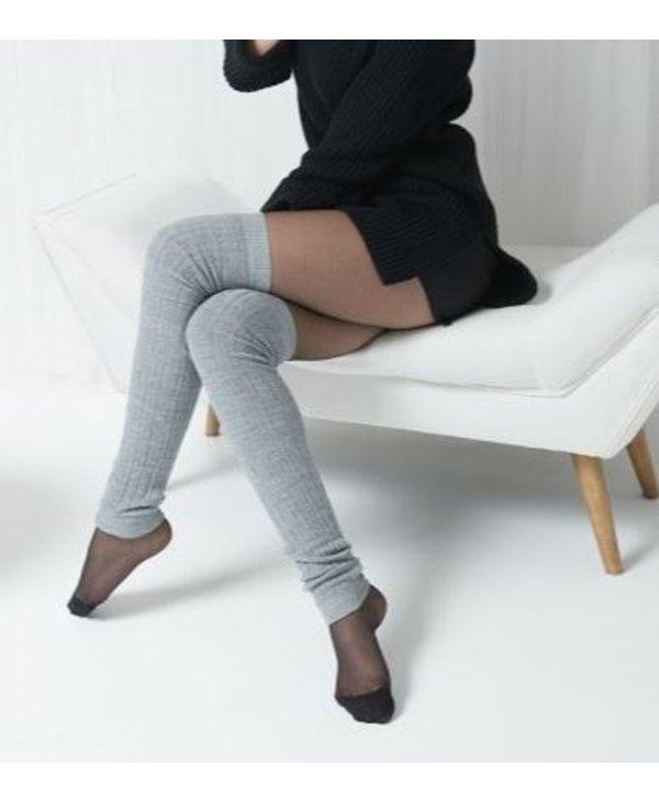"Cable Knit Merino Wool Legwarmers, 23"""