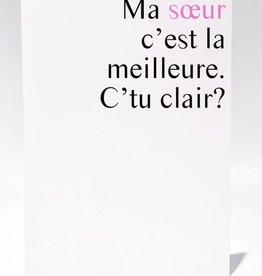 Masimto Greeting Card Ma Soeur