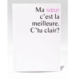 Masimto Greeting Card Ma Soeur