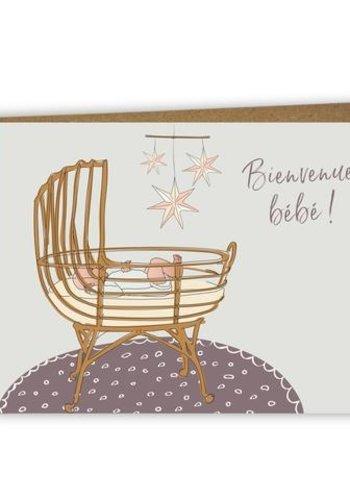 Carte de souhait bilingue  - Bienvenue bébé